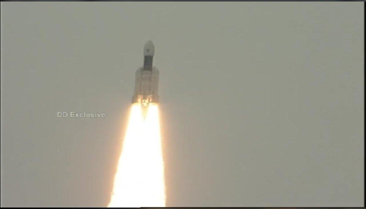 Индия запустила повторно миссию на Луну Chandrayaan-2