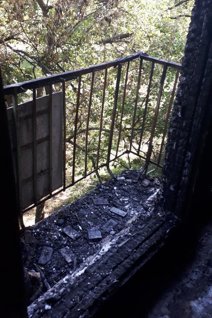В Харькове горели два балкона в пятиэтажном доме