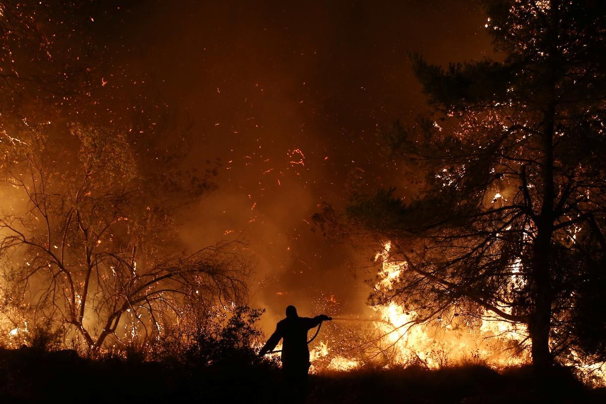 Грецию охватили лесные пожары (видео)