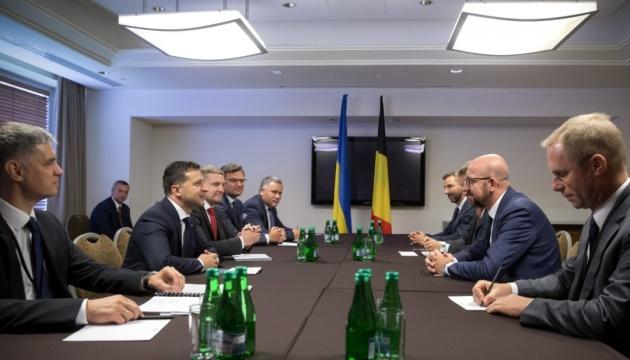 Зеленский провел встречу с премьером Бельгии