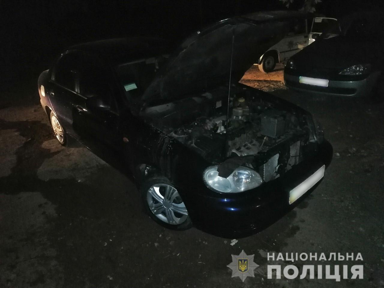 В центре Харькова загорелся автомобиль