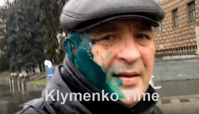 Харьковского журналиста-сепаратиста облили зеленкой (фото)