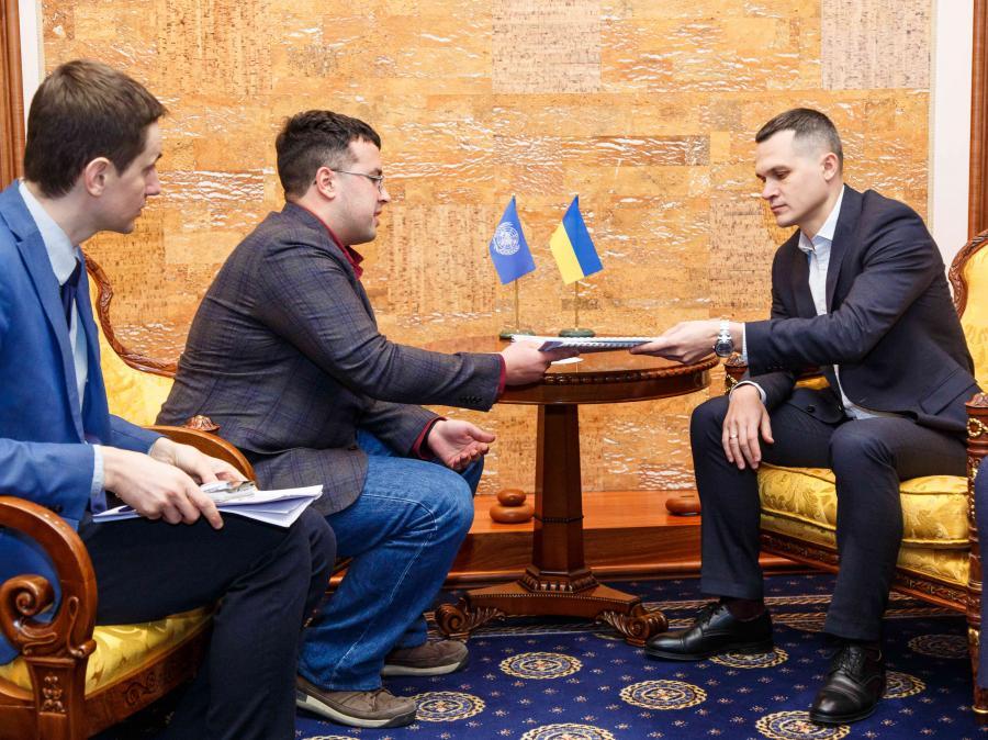 Кучер встретился с главой регионального офиса Миссии ООН по правам человека в Харькове