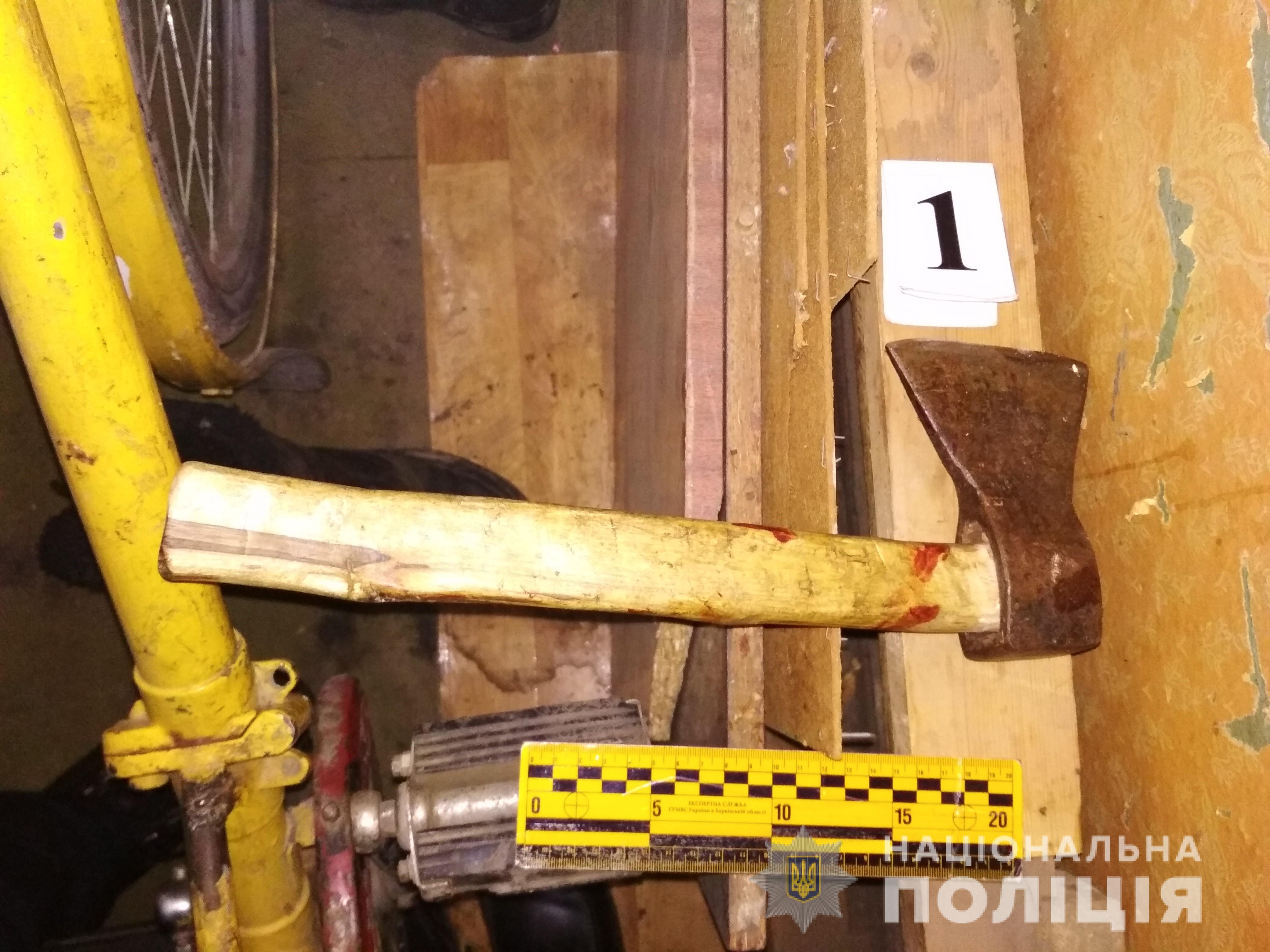 В Харьковской области мужчина ударил топором в голову своему знакомому