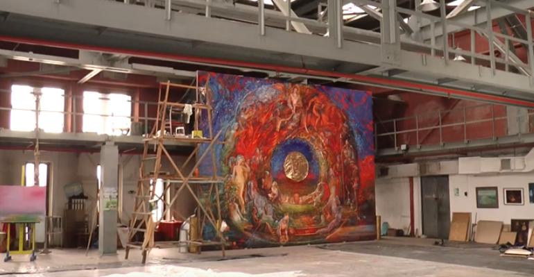Картина розміром з двоповерховий будинок створюється у Харкові (відео)