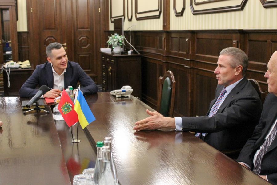 Глава Национального олимпийского комитета Украины встретился с Алексеем Кучером