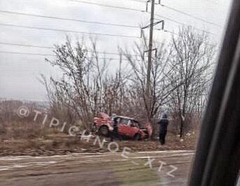 Машина вылетела с дороги на окружной (фото)