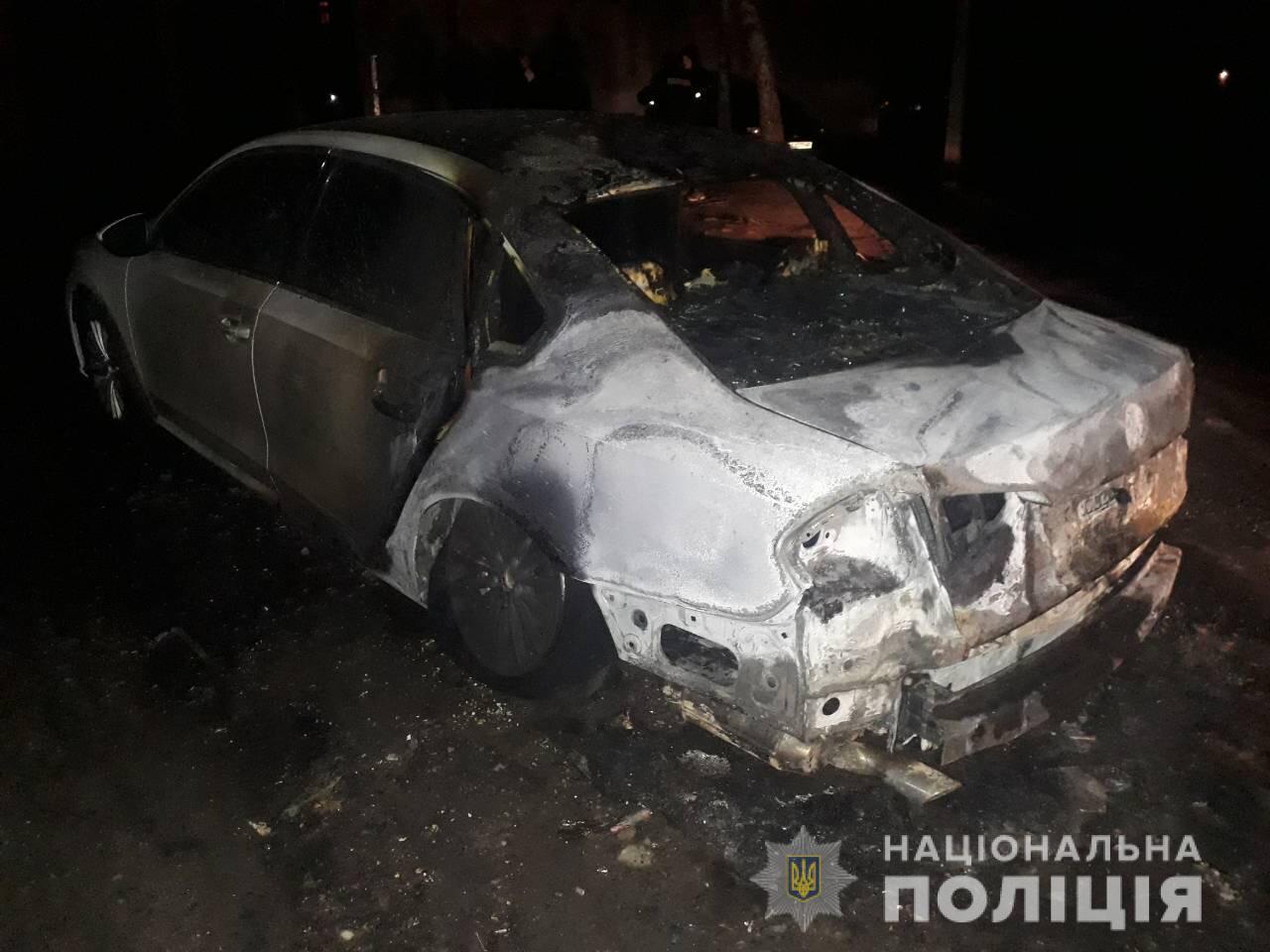 В Харькове сожгли автомобиль общественного активиста (фото)