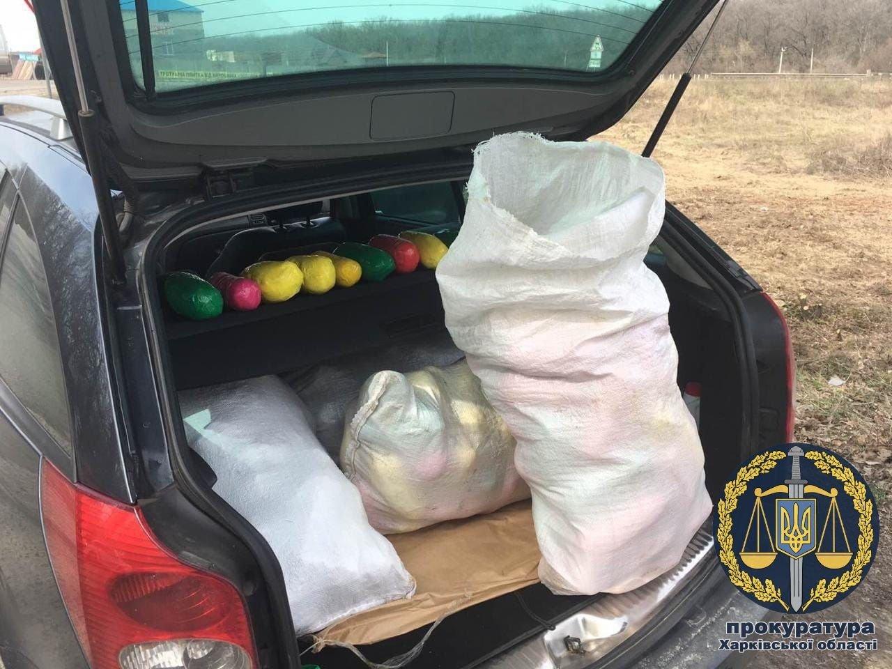 Задержан харьковчанин, который перевозил 110 кг наркотиков