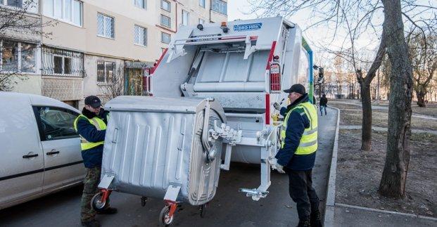 В Харькове проводиться дезинфекция контейнеров для мусора