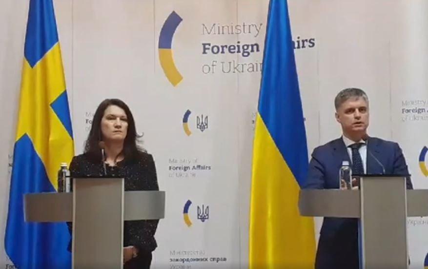 Відбулася спільна прес-конференція міністрів закордонних справ України та Швеції (відео)