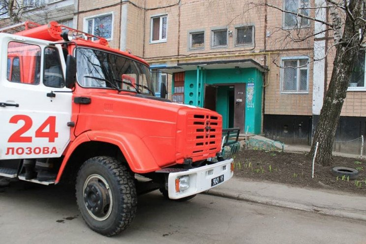 В многоквартирном доме вспыхнул пожар на Харьковщине