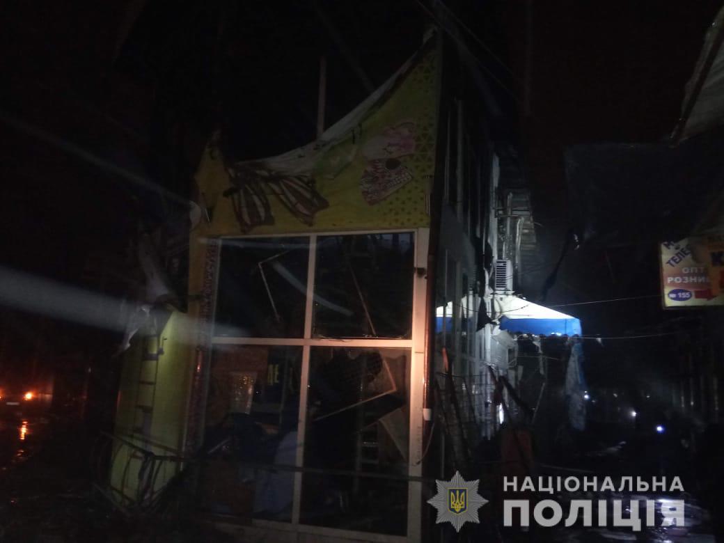 Пожар на рынке в Харькове. Полиция открыла уголовное дело (фото)