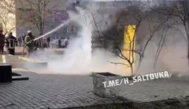 На Салтівці сталася пожежа в торговому павільйоні