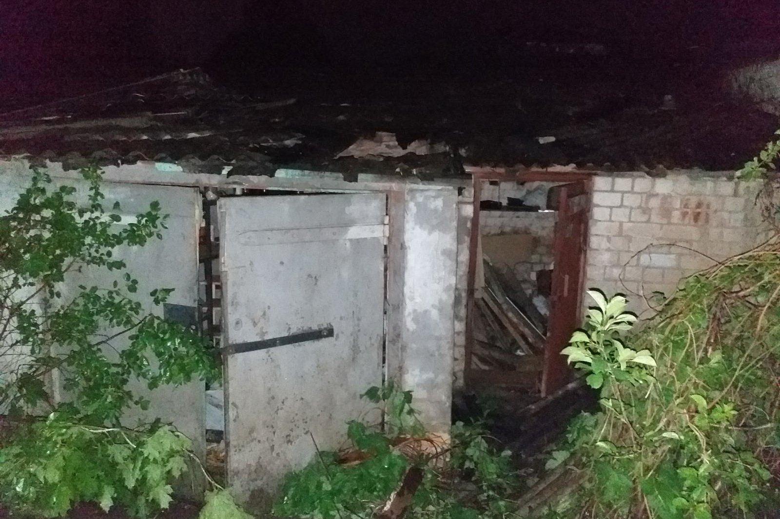 В Харькове горели гаражи (фото)