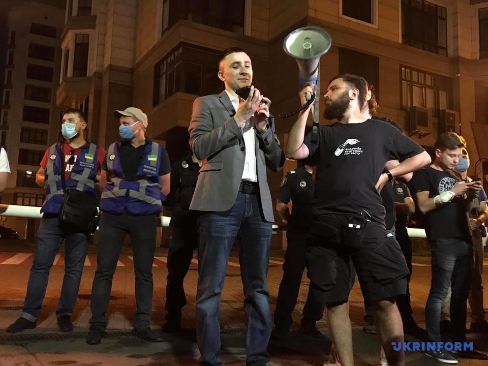 Суд по делу Стерненко закончился беспорядками и задержаниями (фото)