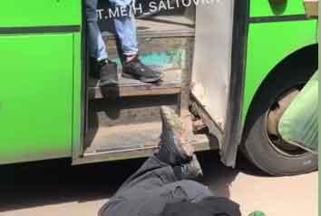 В харьковской маршрутке подрались пассажиры. Один пострадавший (видео)