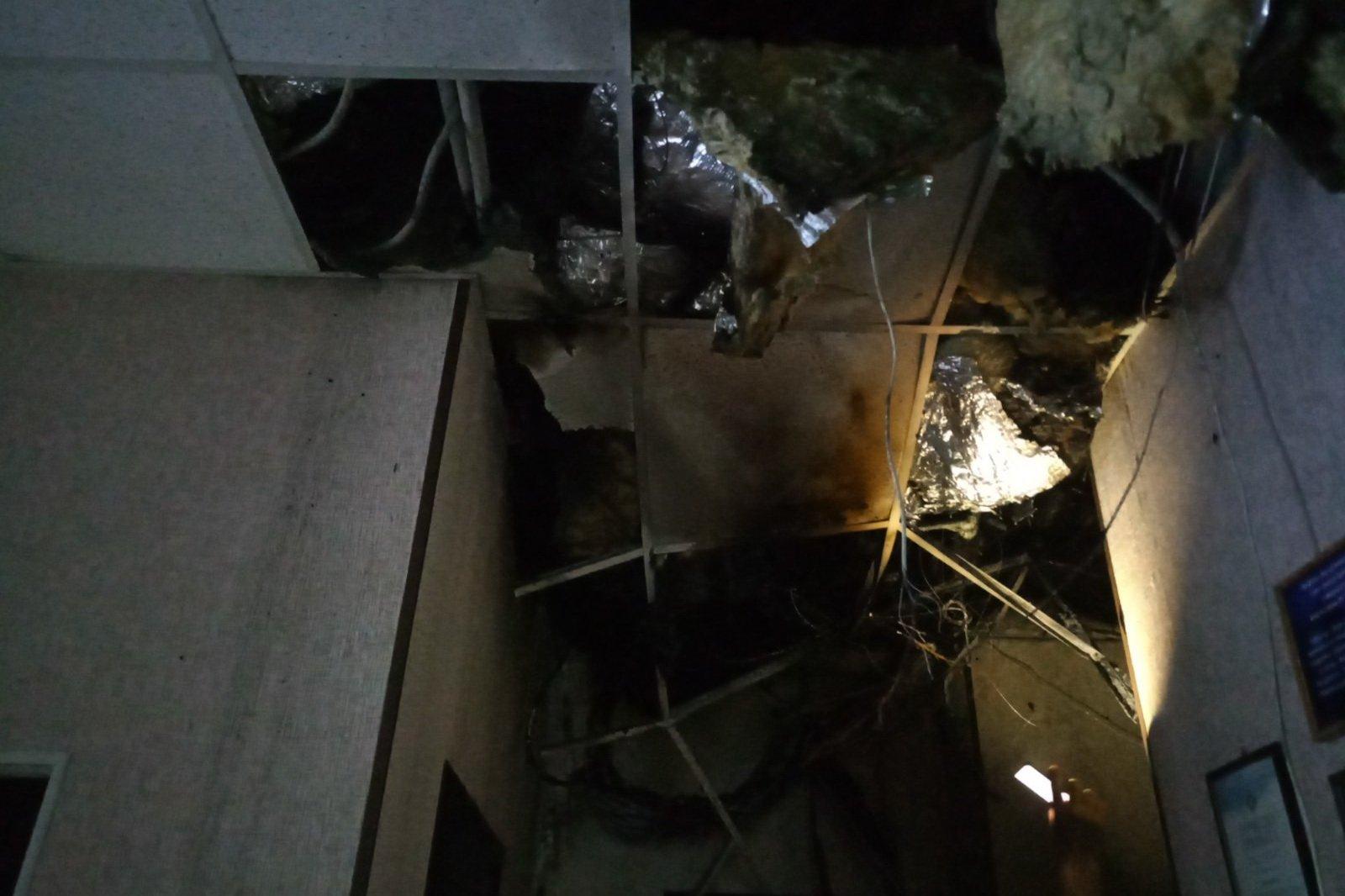 На Клочковской горело офисное здание (фото)