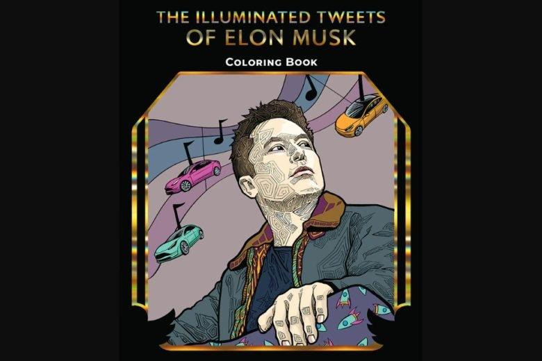 В США появится книга-раскраска, созданная по мотивам постов Илона Маска в Twitter