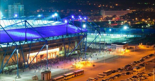 Движение транспорта в районе стадиона «Металлист» временно запрещено