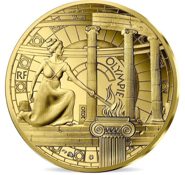 Во Франции выпустили монеты, посвященные родине Олимпийских игр (фото)