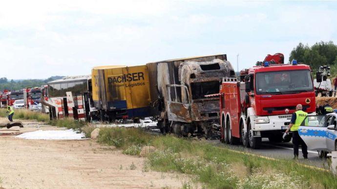 В Польше в аварию попал автобус с украинцами