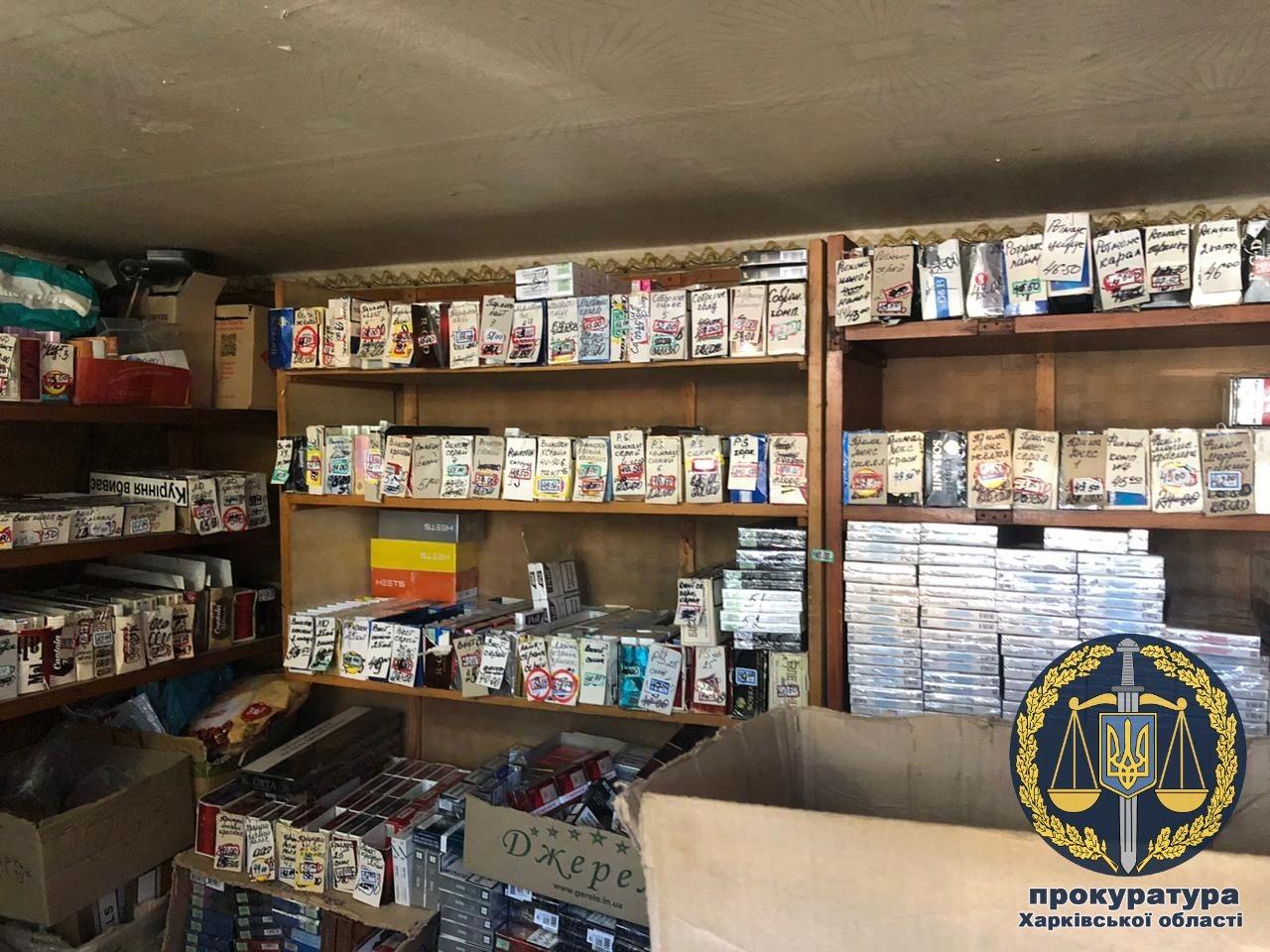 Нелегальный склад сигарет прикрыли в Изюме