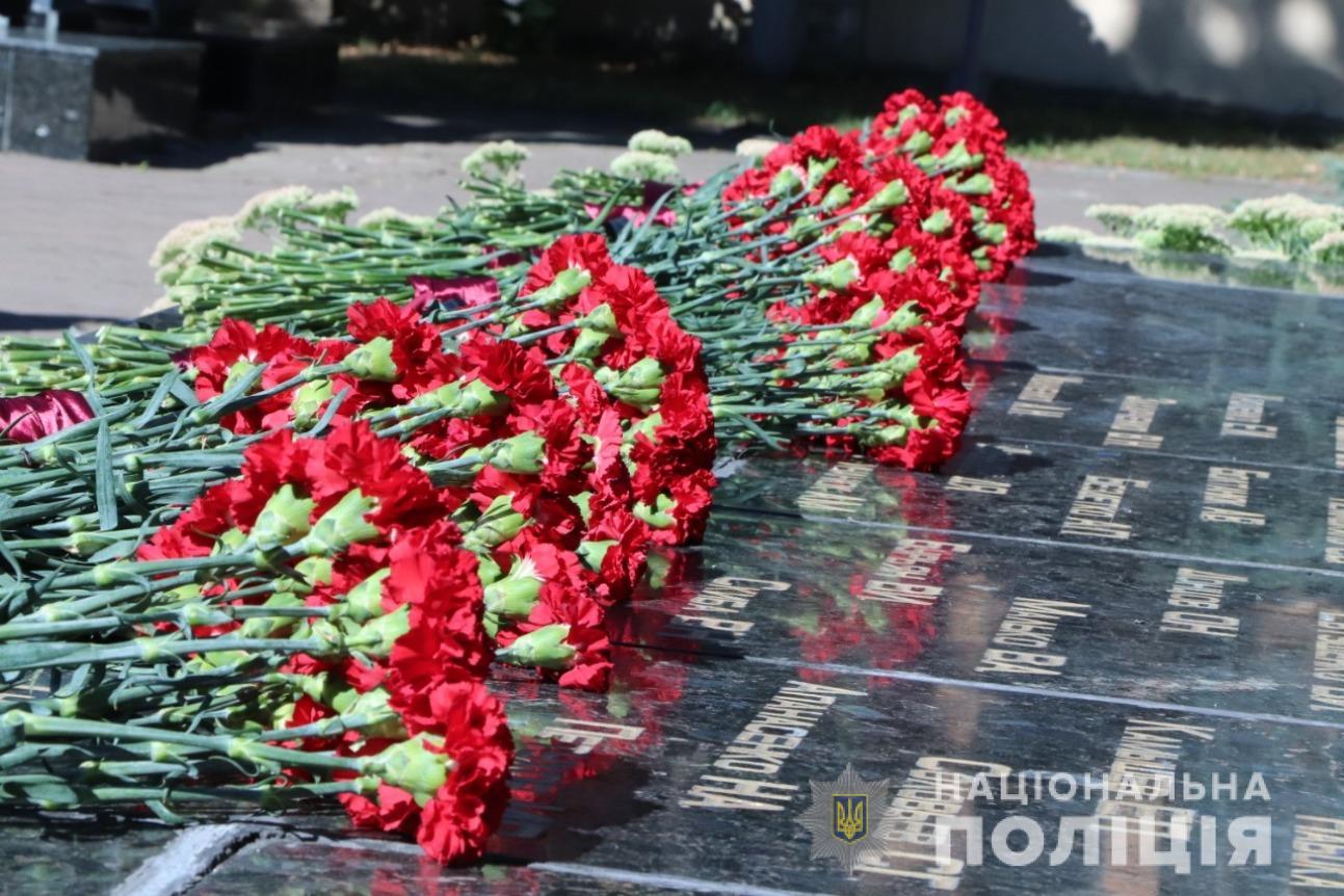 Полицейские Харьковщины почтили память коллег, погибших при исполнении служебных обязанностей
