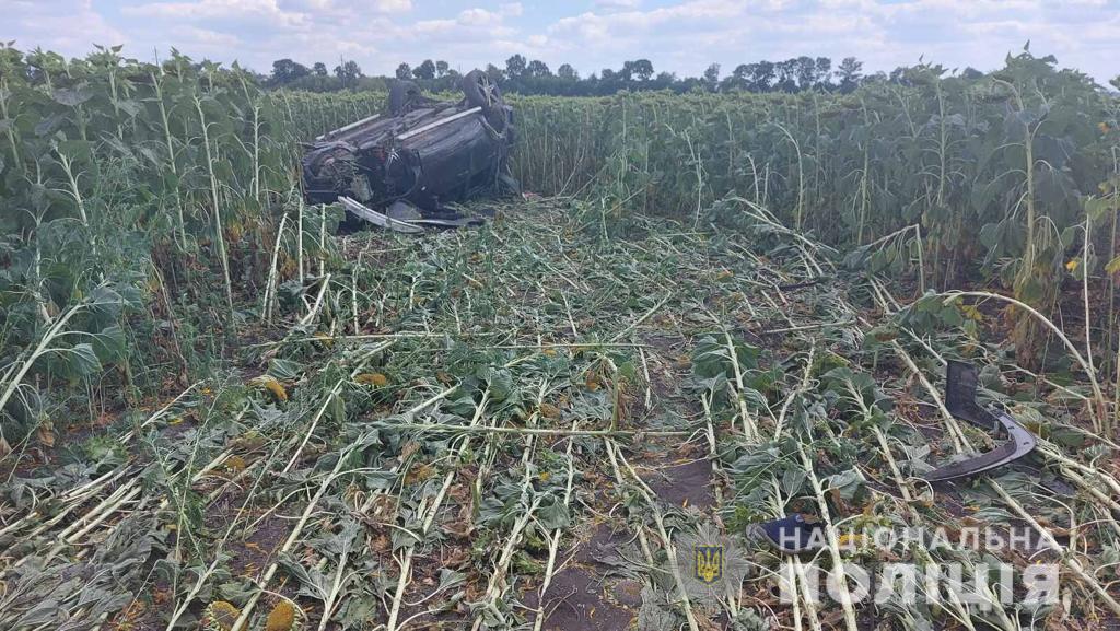 Смертельное ДТП: пьяный водитель съехал с автодороги Мерефа-Павлоград в поле (фото)