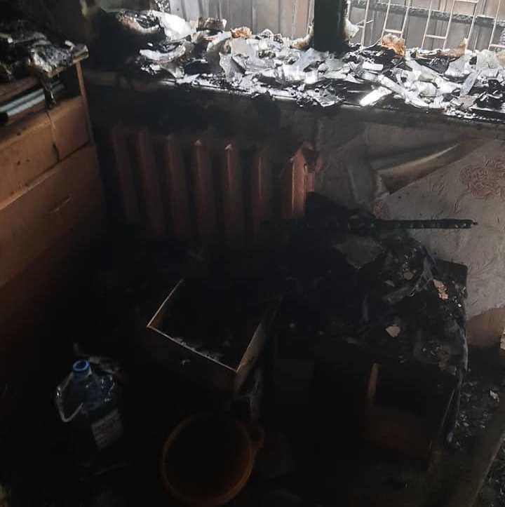 На Салтовке горела многоэтажка (фото)