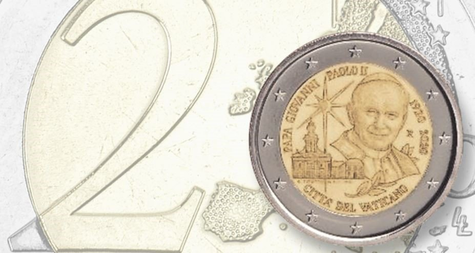 Ватикан выпустил памятную монету Папе Римскому Иоанну-Павлу II