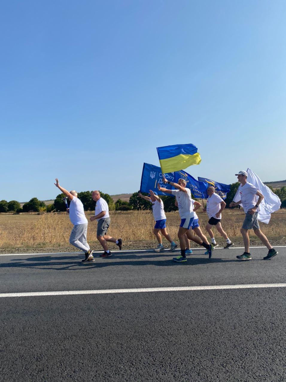 До Харківщини прибігли спортсмени з різних областей України (фото)