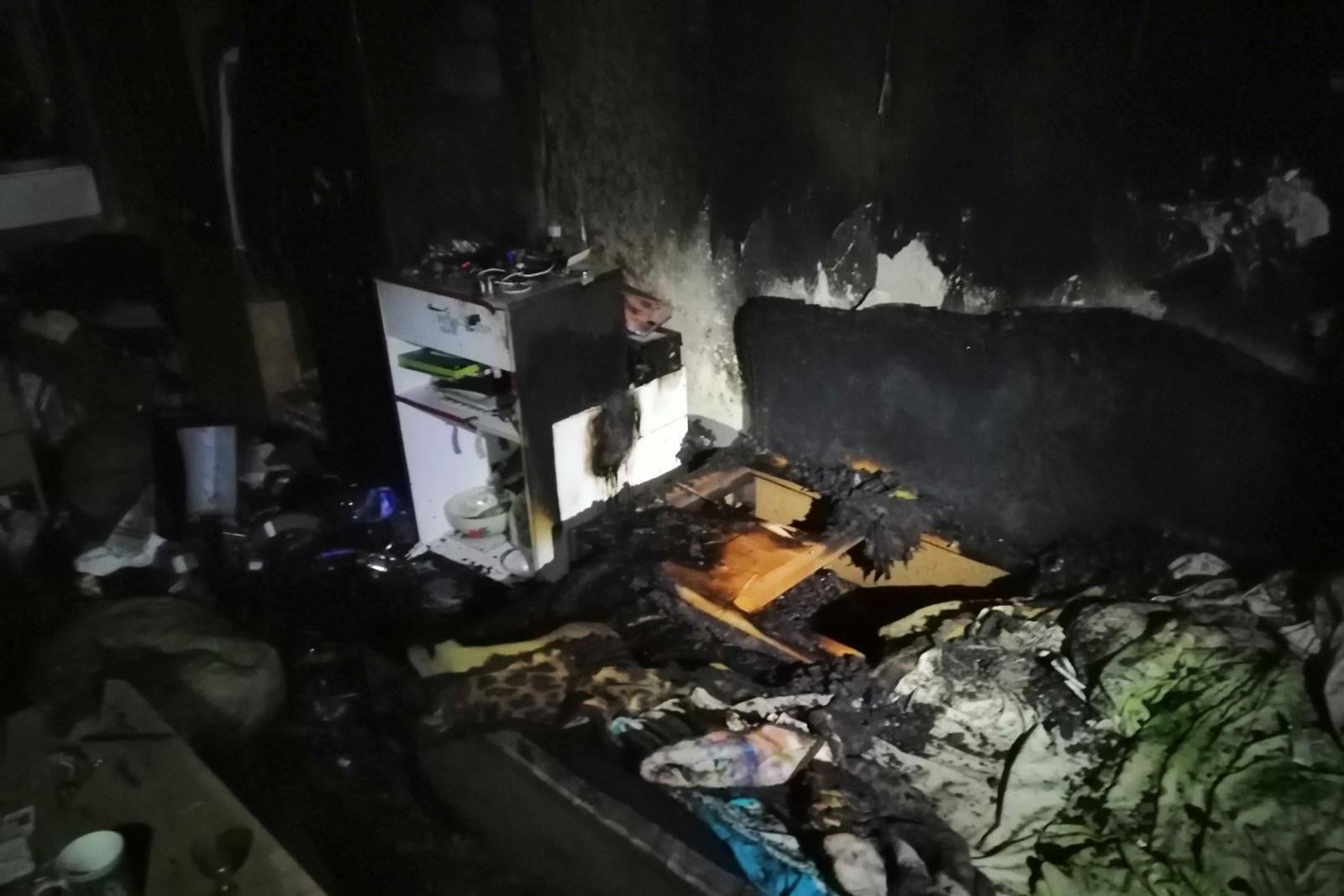 В Харькове произошел пожар в квартире двухэтажного дома (фото)