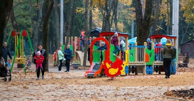 В парке «Зеленый гай» завершился первый этап реконструкции