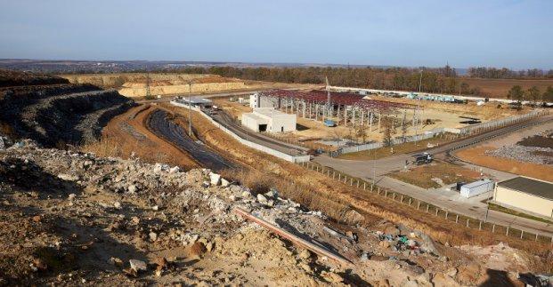 На Дергачевском полигоне строится сортировочная линия