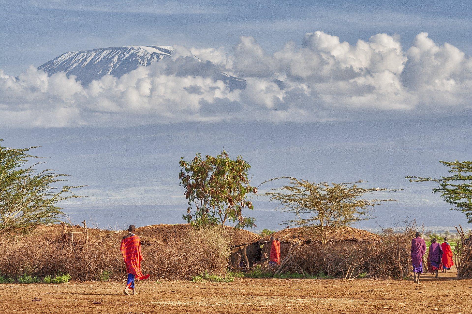 На Килиманджаро бушует огонь (видео)