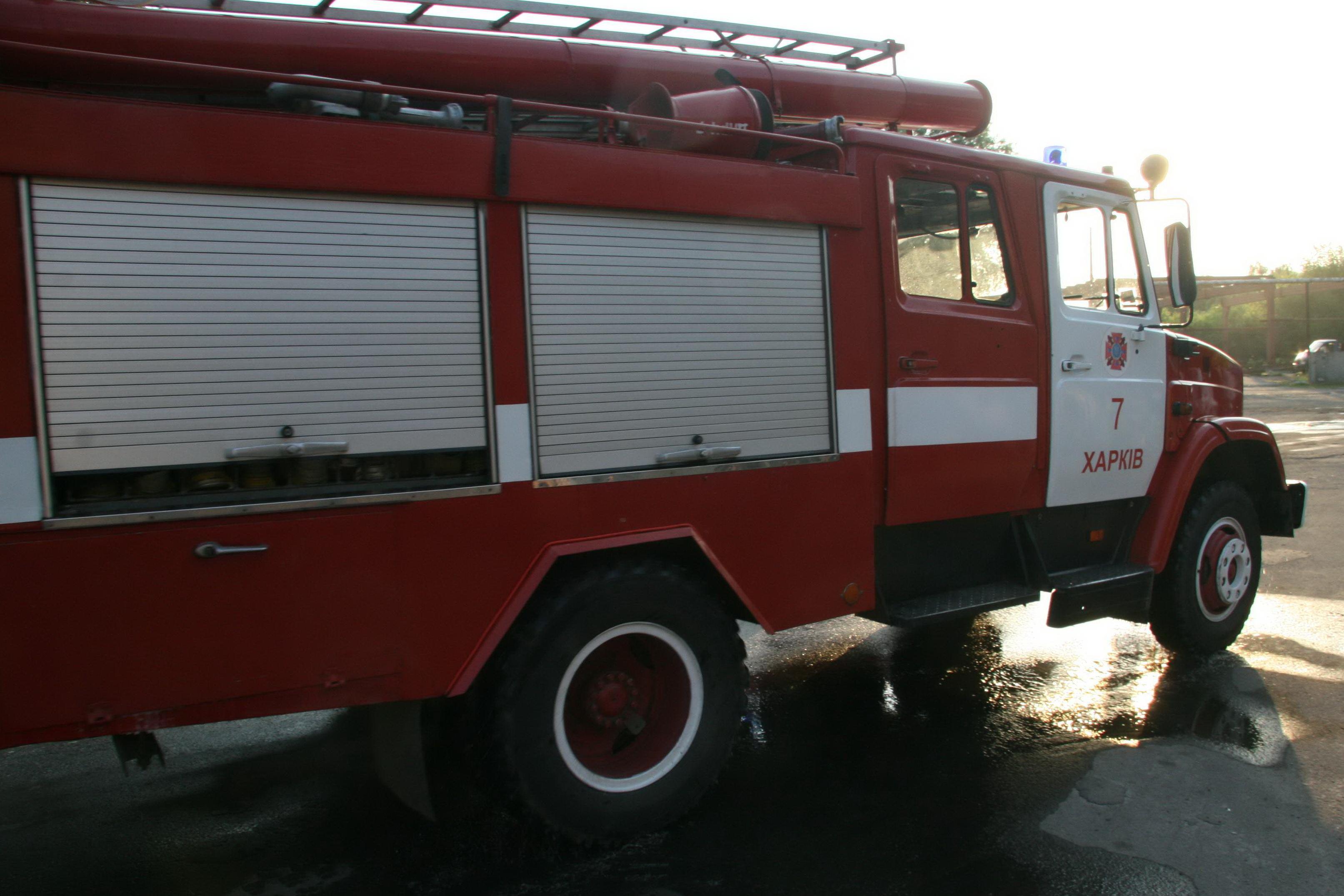 В Харькове горел склад угля