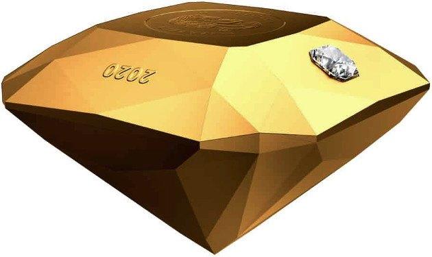В Канаде выпустили золотую монету в форме бриллианта (фото)