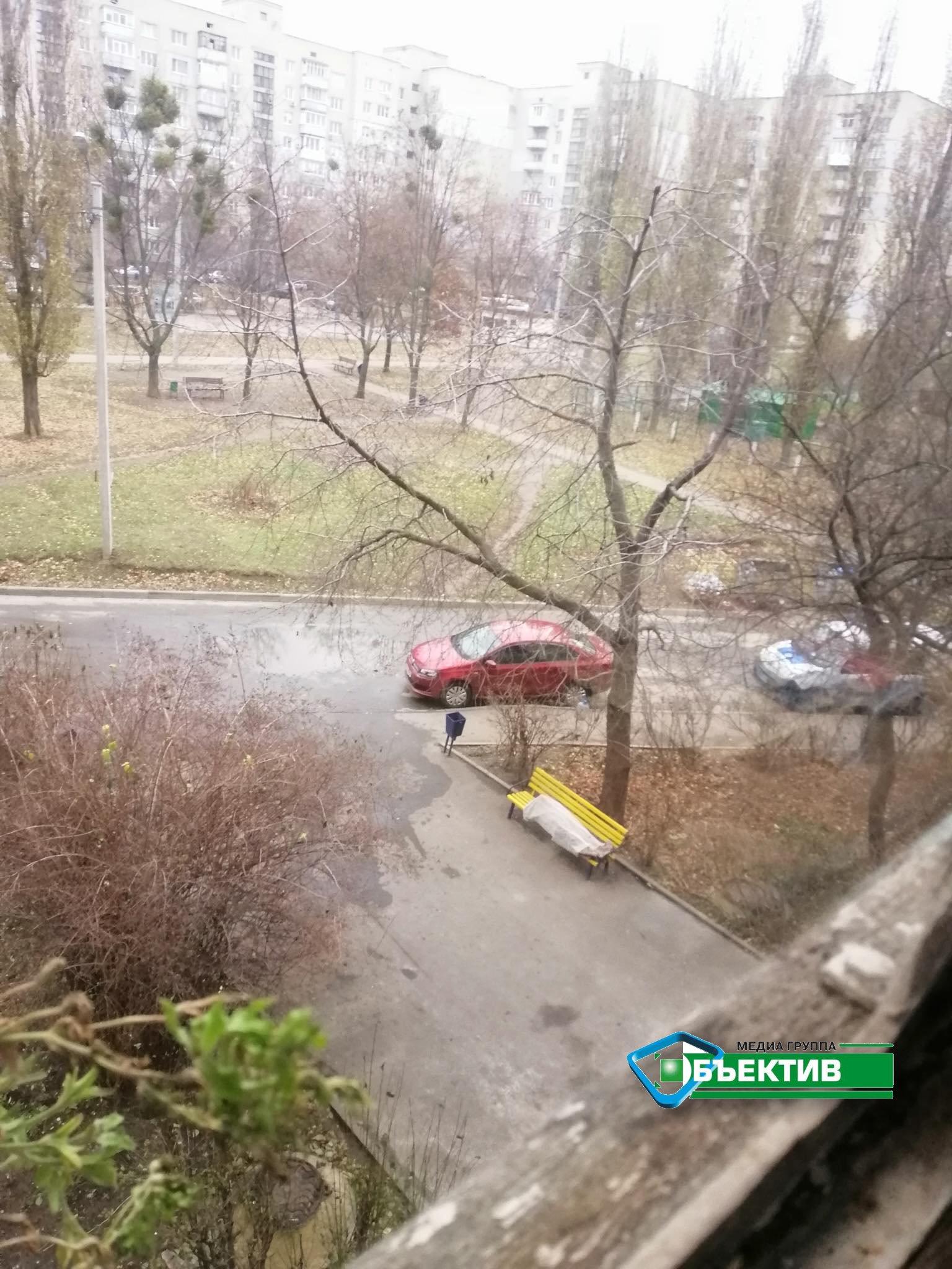 В Пятихатках на пожаре погиб человек. Его тело лежит на лавочке (фото)