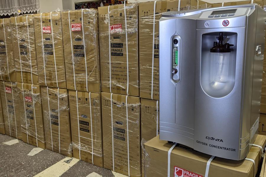 В Харьковской области больницы для COVID-пациентов получили кислородные концентраторы