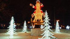 Харьковский сад Шевченко украсили к Новому году (фото, видео)