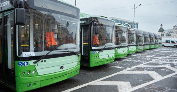 Пять новых троллейбусов с автономным ходом выйдут на маршруты Харькова