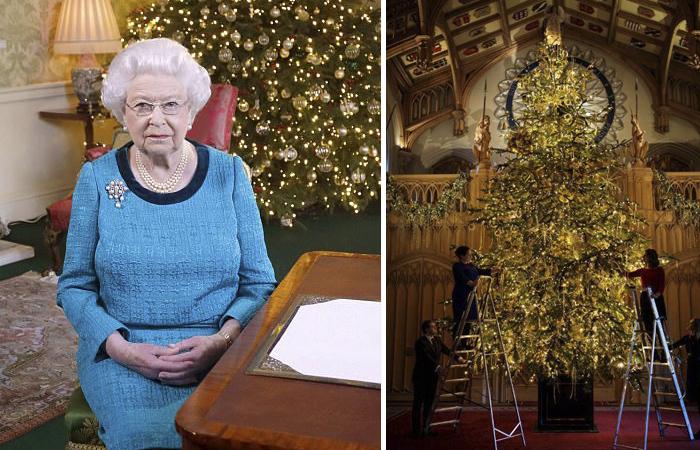 В Виндзорском дворце установили и нарядили рождественскую ель (фото)