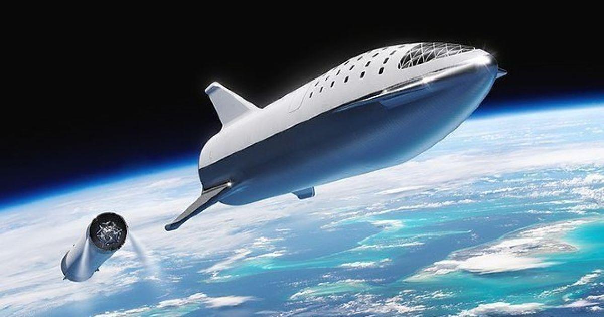 Илон Маск запускает корабль для межпланетных путешествий