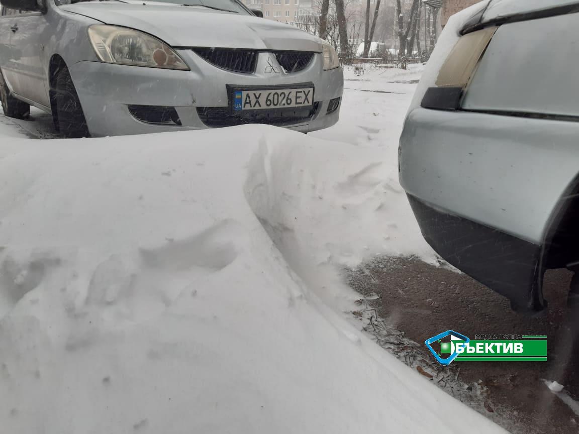 Снегопад. Что происходит в районах Харькова (видео, фото)