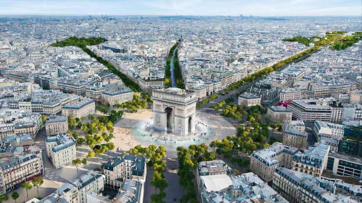 Знаменитые Елисейские поля в Париже превратят в удивительный сад (фото)