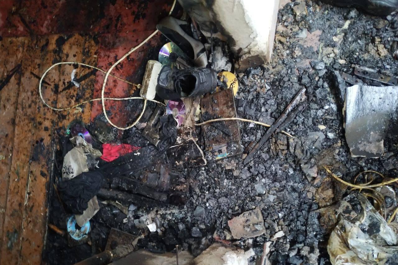 В Харьковском районе на месте пожара найдено тело погибшего мужчины (фото)