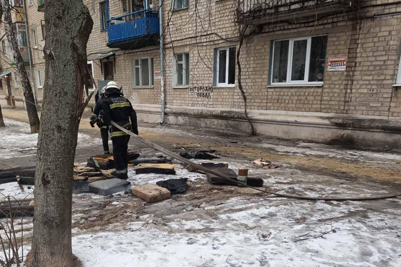 В Харькове на пожаре обнаружено тело мужчины (фото)