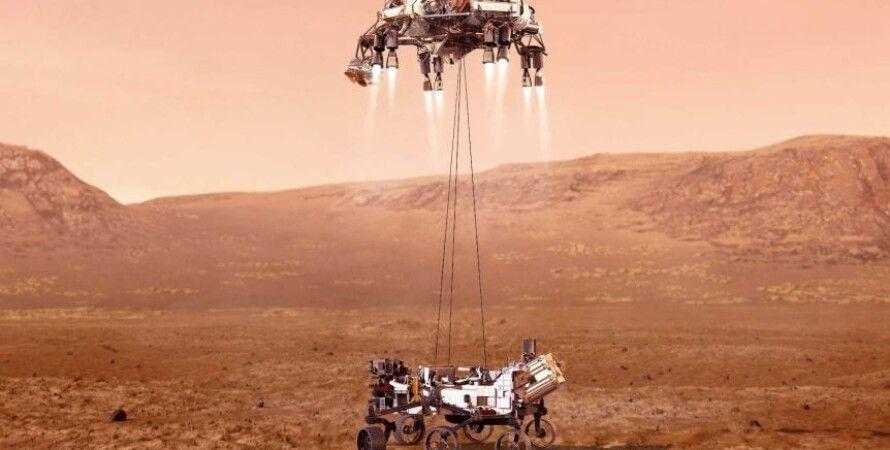 """Марсоход NASA """"Персеверанс"""" достиг Красной планеты: историческая посадка на Марс (видео)"""