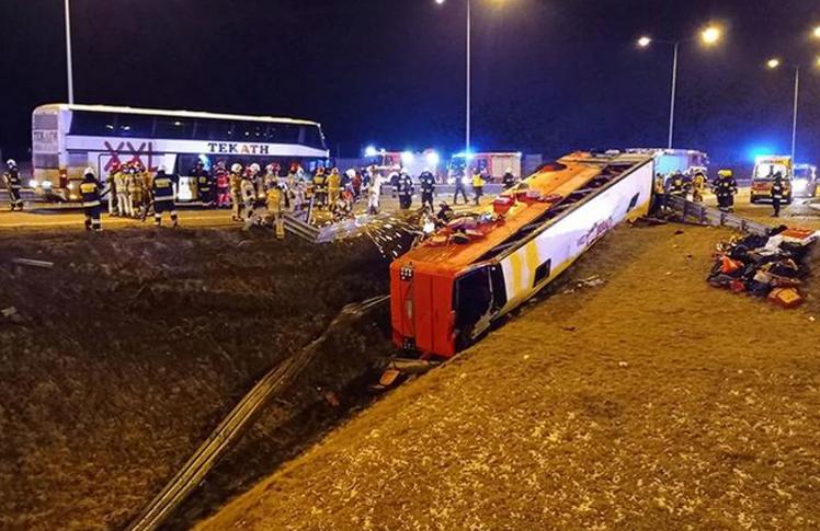 В Польше автобус с украинцами попал в ДТП: 6 человек погибли, 34 травмированы
